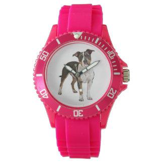 Relógio Cão de filhote de cachorro de Staffordshire