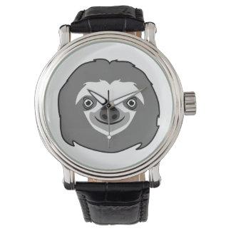 Relógio Cara da preguiça