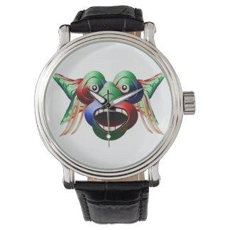 Relógio Cara engraçada futurista do caráter do monstro