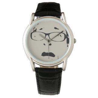 Relógio Cara Scared que veste os vidros divertidos