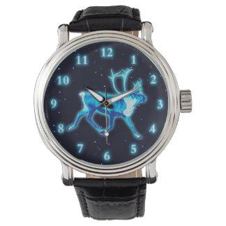 Relógio Caribu azul (rena)