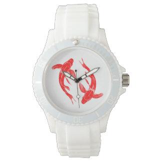 Relógio Carpa vermelha dos peixes de Koi