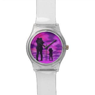 Relógio Casais no amor - 3D rendem