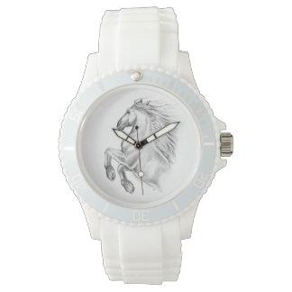 Relógio Cavalo andaluz poderoso