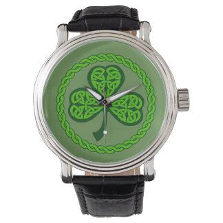 Relógio celta do trevo do nó