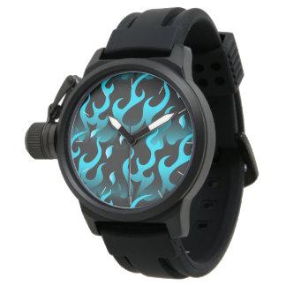 Relógio Chamas azuis quentes