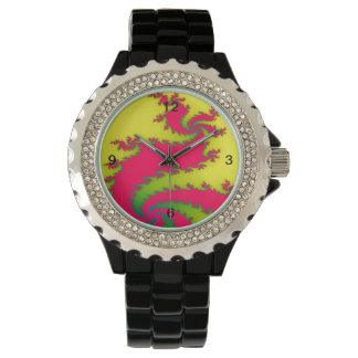 Relógio chinês do Fractal do dragão do ano novo