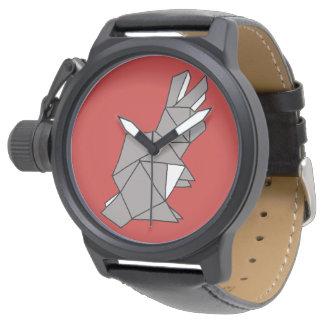 Relógio cinzento do coelho cúbico