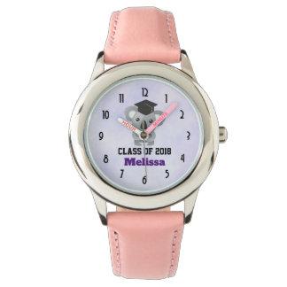 Relógio Classe de urso de Koala 20xx bonito no boné de