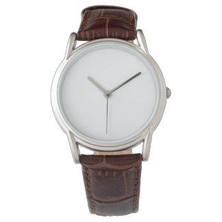 Relógio clássico da correia de couro do Brown dos