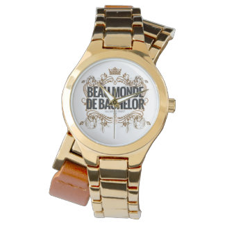 Relógio clássico do logotipo: Beau Monde De