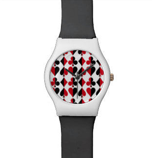 Relógio Clube do diamante da pá do coração