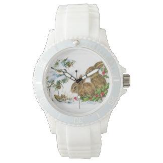 Relógio Coelhos do natal vintage