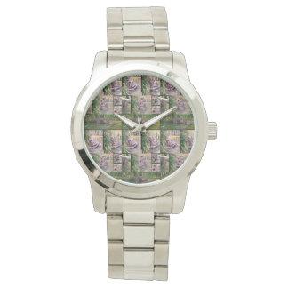 Relógio Colagem da foto do Hippopotamus, grande unisex