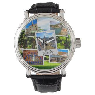 Relógio Colagem de Budva Montenegro