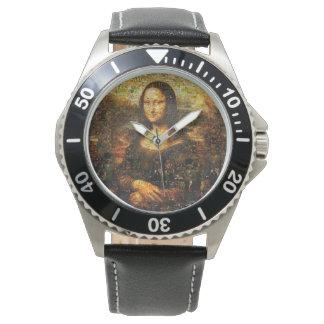 Relógio colagem de Mona lisa - mosaico de Mona lisa - Mona