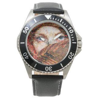 Relógio Colagem-olho-menina beduína do menina-olho do