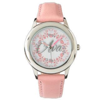 Relógio Coleção-Cor-de-rosa do amor de Ava