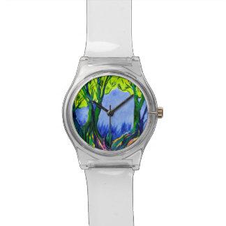 Relógio colorido da paisagem May28th do