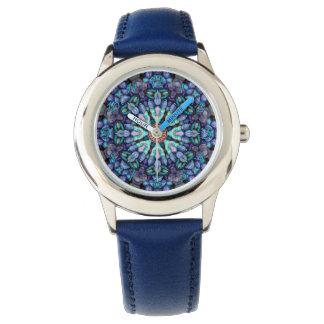 Relógio colorido dos miúdos do vintage da