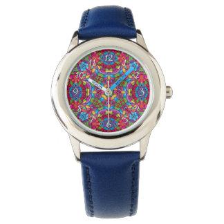 Relógio colorido dos miúdos do vintage do mineiro