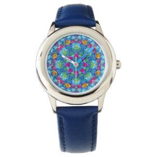 Relógio colorido   dos miúdos do vintage dos