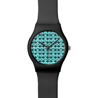 """Relógio com design da """"flor de lis"""""""