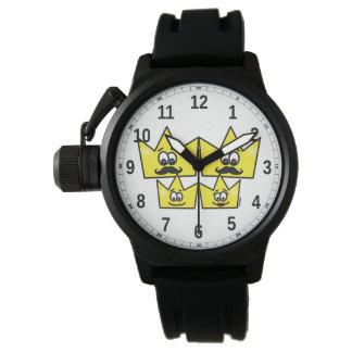 Relógio com Protetor de Coroa Pulseira Borracha