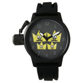 Relógio com Protetor de Coroa Pulseira de Borracha