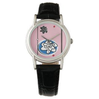 Relógio contemporâneo feminino da flor