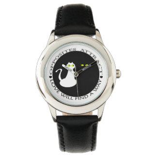 Relógio Contraste branco preto legal mínimo do casal do