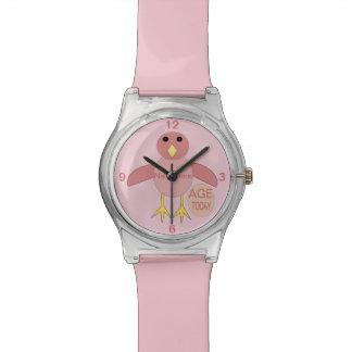 Relógio cor-de-rosa feito sob encomenda do