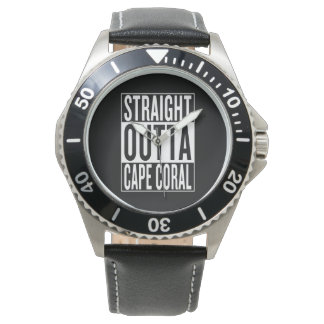 Relógio coral reto do cabo do outta