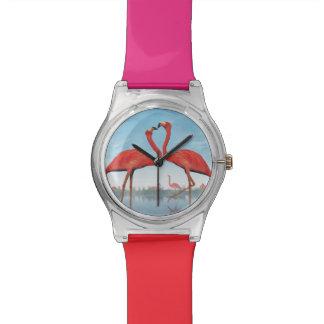 Relógio Corte dos flamingos - 3D rendem