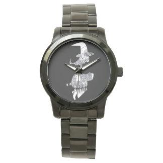 Relógio Crânio-bruxa-relógio