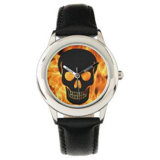 Relógio Crânio do fogo
