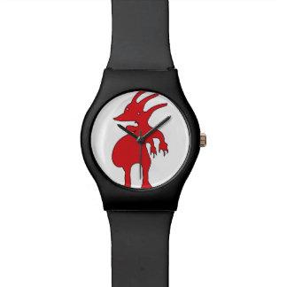 Relógio Criatura grotesco isolada