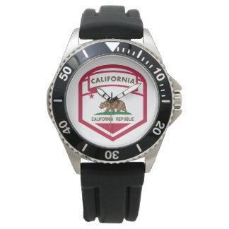 Relógio Crista da bandeira do estado de Califórnia