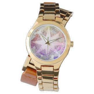 Relógio Cristal de rocha cor-de-rosa do compasso da