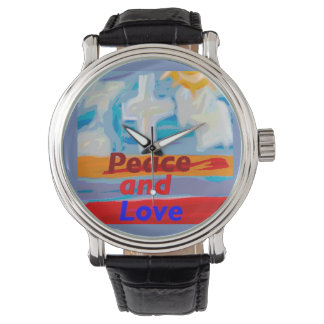 Relógio cristão cura da paz e do amor da igreja da