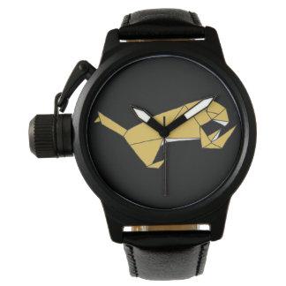 Relógio cúbico do design do leão