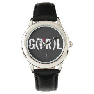Relógio Custom Cuir vintage girl