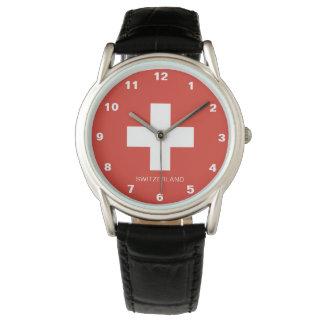 Relógio da bandeira da suiça