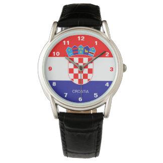 Relógio da bandeira de Croatia