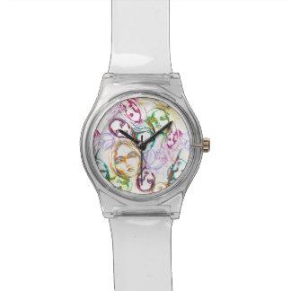 relógio da cara do arco-íris
