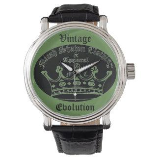 Relógio da evolução do vintage (logotipo original