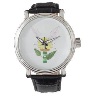 Relógio da flor do coelho
