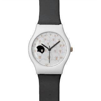 Relógio da ilustração das ovelhas negras relógio