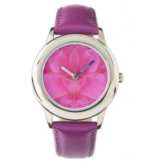 Relógio Relógio da mandala do rosa do rosa