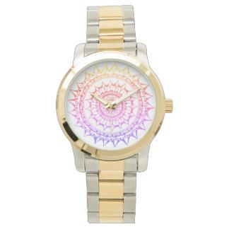 Relógio da mandala pelo design de Megaflora